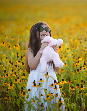 Sadie in yellow flowers-12