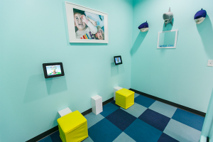 Back play area with iPads