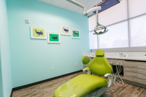 Private treatment rooms with ceiling mounted TV's for patients to watch their favorite Netflix movies.